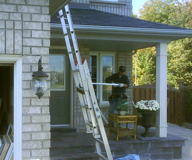Bow window installation bow window installation toronto for Bay window installation